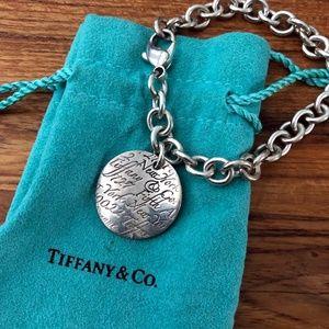 Tiffany & Co. Notes Round Tag Charm Bracelet